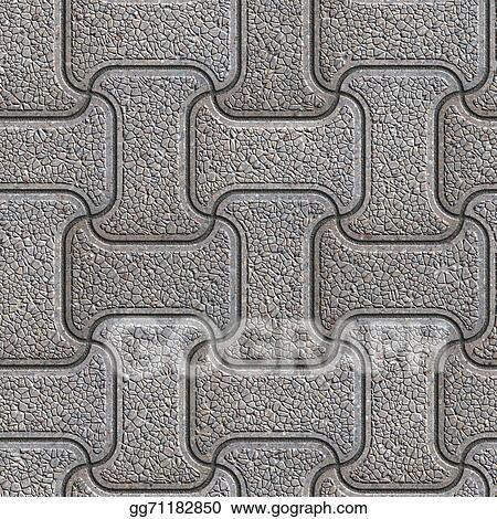 stock illustrations grey brick pavers seamless texture stock