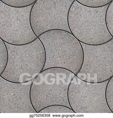drawings grey wavy pavers seamless texture stock illustration