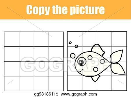 photo regarding Printable Kids Game identify Vector Instance - Grid replica worksheet. instructive
