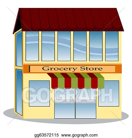 vector art grocery store clipart drawing gg63572115 gograph rh gograph com grocery store clipart images grocery store clipart black and white