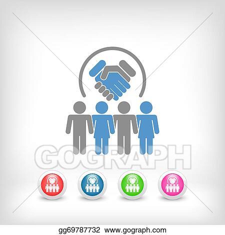 Vector Stock Group Agreement Clipart Illustration Gg69787732