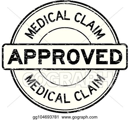 Grunge Black Medical Claim Approve Round Rubber Stamp On White Background
