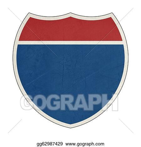 Grunge Blank California Interstate Highway Sign