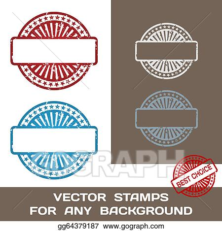 vector stock grunge blank rubber stamp set template for any