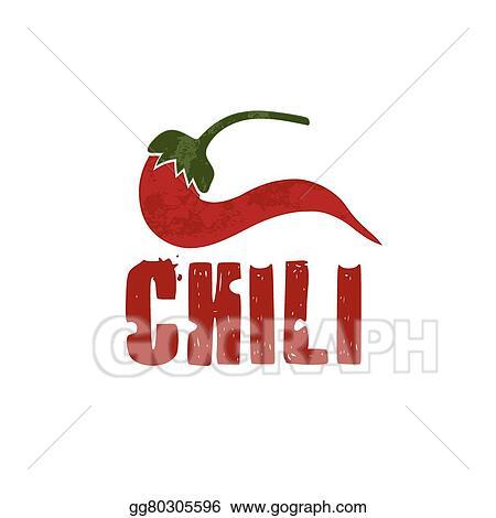 Vector Illustration - Grunge chili pepper vector design template ...