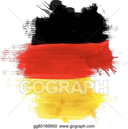EPS Vector - Grunge map of germany with german flag  Stock