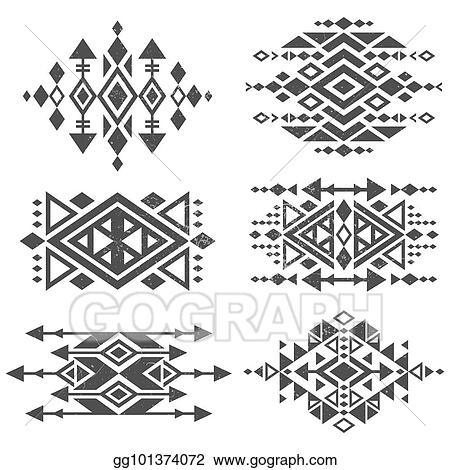 5a62aebd5d1be Grunge mexican aztec tribal traditional vector logo design isolated on  white background