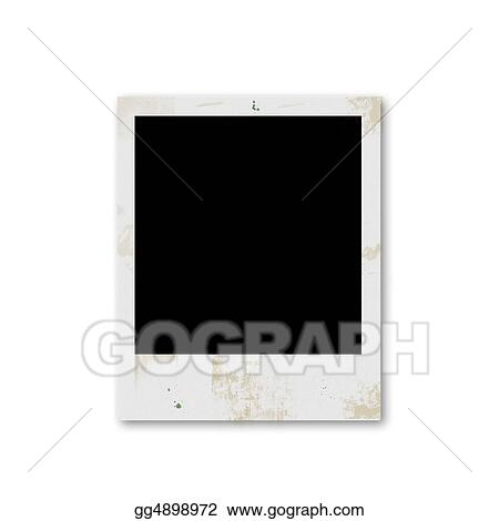 Stock Illustration - Grunge poalaroid blank frame. Clipart gg4898972 ...