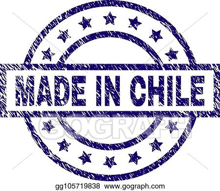 Grunge Textured MADE IN CHILE Stamp Seal
