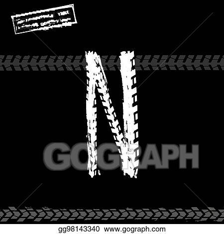 Vector Art Grunge Tire Letter Eps Clipart Gg98143340 Gograph