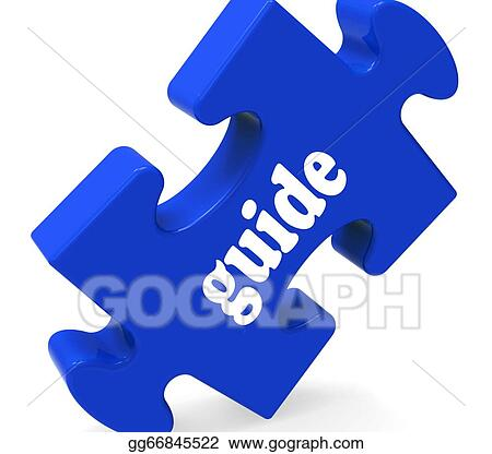 Stock Illustration Guide Puzzle Showing Consulting Instructions