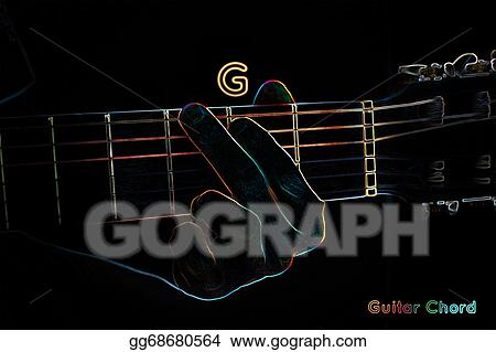 Stock Illustration - Guitar chord on a dark background. Clip Art ...
