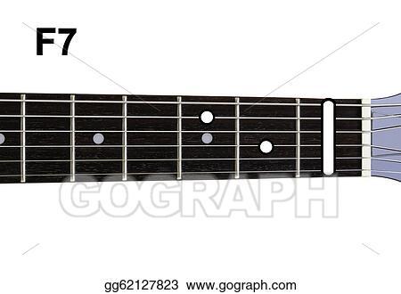 Stock Illustration - Guitar chords diagrams - f7. guitar chords ...