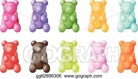 vector art gummy bears clipart drawing gg62896306 gograph