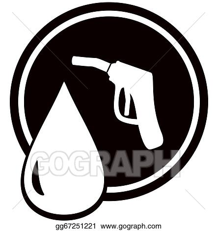 Stock Illustration Gun For Fuel Pump Gas Station Sign Clipart