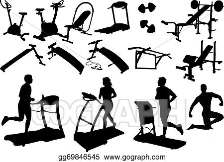 Vector Stock Gym Equipment Made In The Image Vectors Clipart Illustration Gg69846545 Gograph