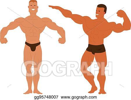 Clip Art Vector Gym Fitness Bodybuilder Man Stock Eps Gg95748007 Gograph
