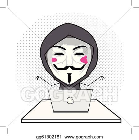 vector illustration hacker eps clipart gg61802151 gograph vector illustration hacker eps