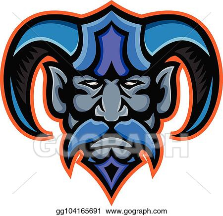 Clip Art Vector Hades Greek God Head Frnt Mascot Stock Eps