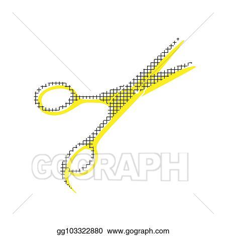 Hair Cutting Scissors Vector 96