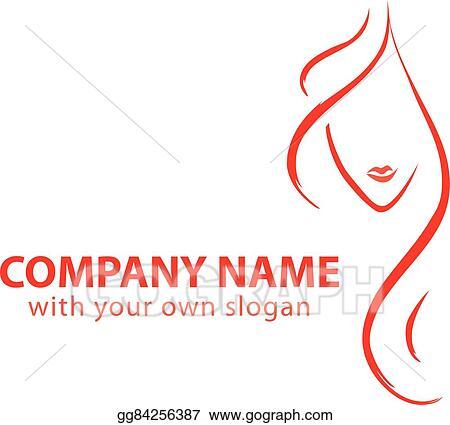 Eps Illustration Hair Stylist Logo Vector Clipart Gg84256387