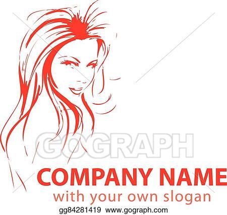 Eps Illustration Hair Stylist Logo Vector Clipart Gg84281419