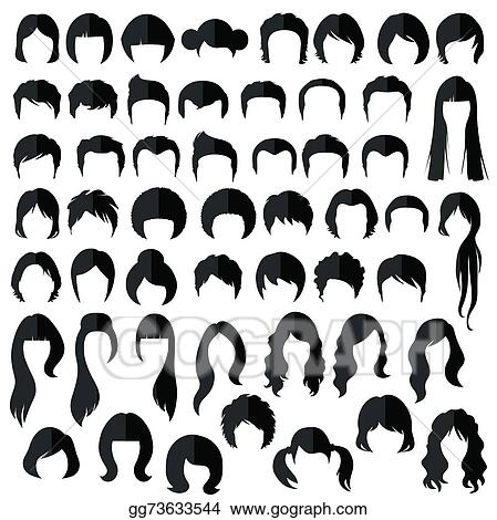 Vector Stock Hair Vector Hairstyle Clipart Illustration