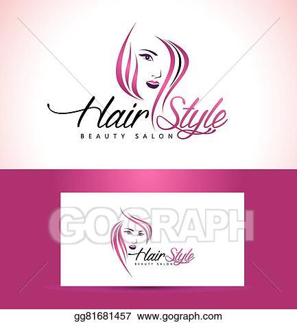 Clip Art Vector Hairstyle Salon Logo Design Stock Eps Gg81681457
