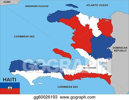 Drawing - Haiti map. Clipart Drawing gg60026193 - GoGraph