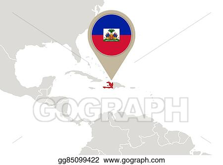 Haiti Map Of World.Eps Vector Haiti On World Map Stock Clipart Illustration