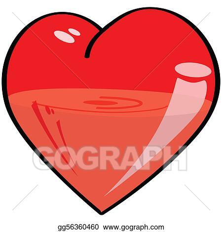 Vector Stock Half Full Half Empty Heart Stock Clip Art