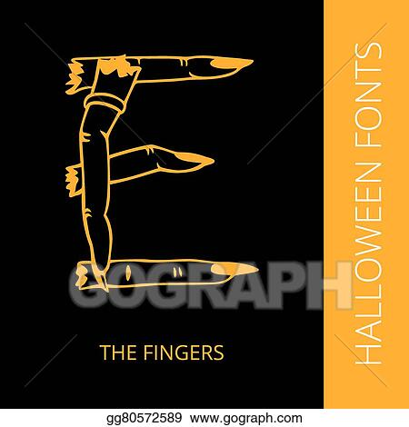 Vector Illustration - Halloween alphabet letter e consist of the