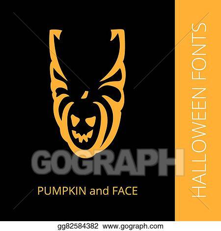 Vector Clipart - Halloween alphabet letter u consist of