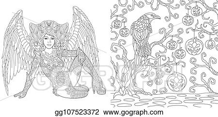Gothic coloring page | Värityskirjat, Väritys, Värityskuva | 241x450
