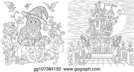 Free Halloween Coloring Pages For Adults Coloring Page For Adults ... | 241x450