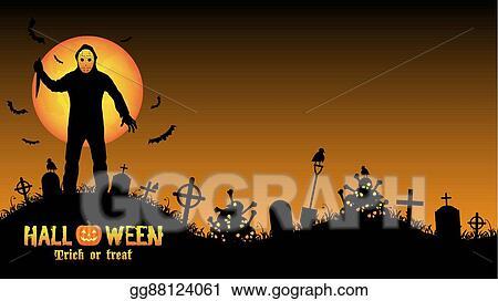 Clip Art Vectoriel Halloween Feuilleton Tueur Dessin