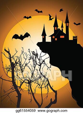 Clip art vector halloween invitation or background stock eps halloween invitation or background stopboris Gallery