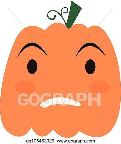 Halloween Pumpkin Vector Art.Vector Art Halloween Pumpkin Icon Clipart Drawing