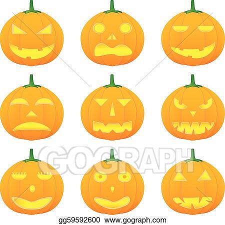 Halloween Pumpkin Vector Art.Vector Art Halloween Pumpkin Clipart Drawing Gg59592600