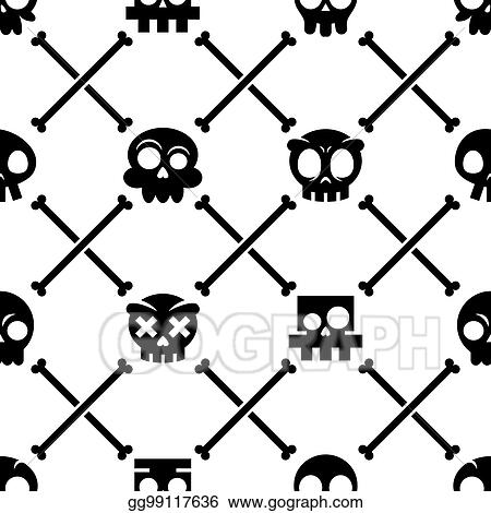 a3f4d29e0be Stock Illustration - Halloween skull vector seamless pattern ...