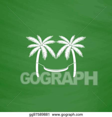 Eps Vector Hammock And Palm Trees Stock Clipart Illustration