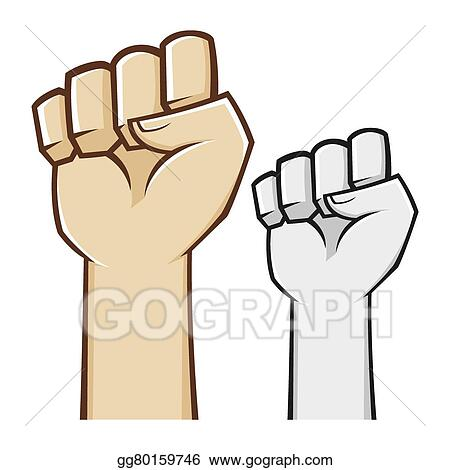Vector Art Hand Clenched Fist Symbol Eps Clipart Gg80159746 Gograph