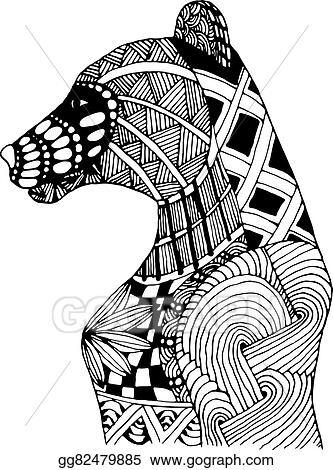 Vector Stock - Hand draw bear patterns in the style of
