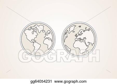 Vector Stock Hand Draw Vector Planet Earth Stock Clip Art