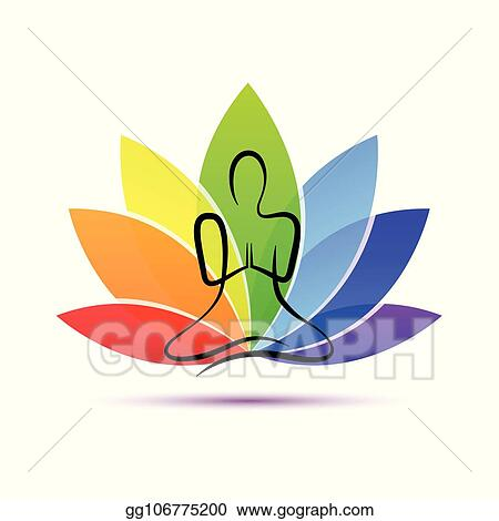 vector illustration  hand drawing yoga person sitting in