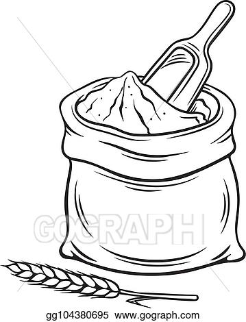 vector stock hand drawn bag of flour clipart illustration gg104380695 gograph https www gograph com clipart license summary gg104380695