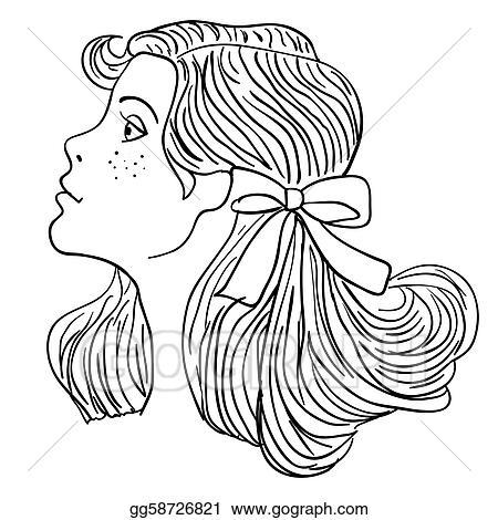 eps vector hand drawn fashion model vector illustration woman s