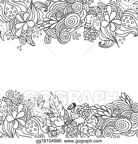Vector Stock Hand Drawn Floral Vector Doodle Top And Down