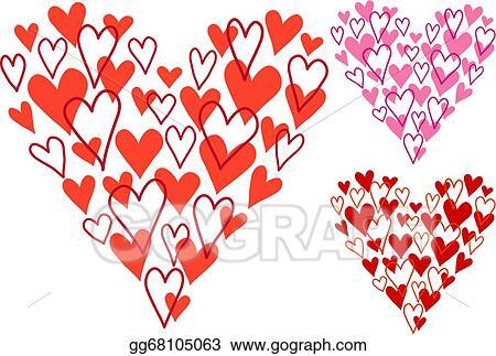 Vector Illustration Hand Drawn Heart Vector Stock Clip Art