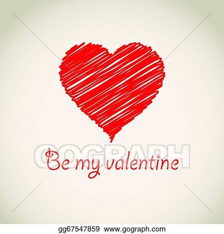 Vector Stock Hand Drawn Heart Clipart Illustration Gg67547859